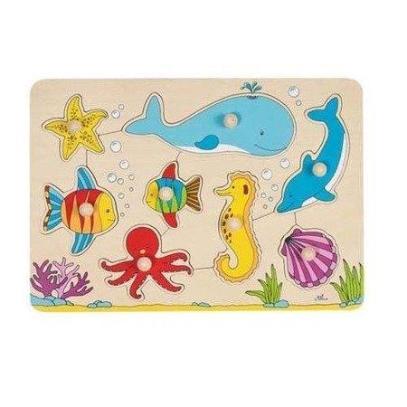 Układanka – puzzle z uchwytami – motyw Podwodny świat, Goki 57953