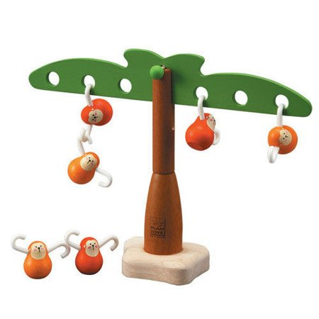 Zabawka zręcznościowa Balansujące małpki, Plan Toys®